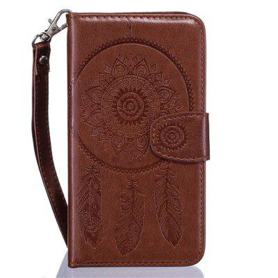 3D Embossed Wind Bell PU Leather Flip Folio Wallet Cover for iPhone 7 Plus
