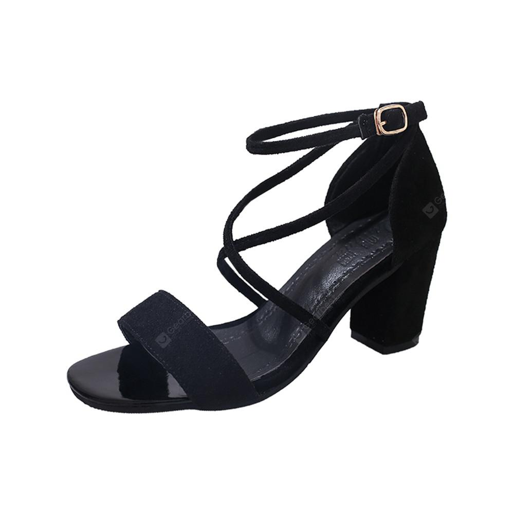 Middle Sexy Comfortable Temperament Show Toe Thick Heel Female Shoes