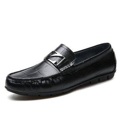Male Outdoor Soft Driving Flat Loafers Leather Men Casual Shoes