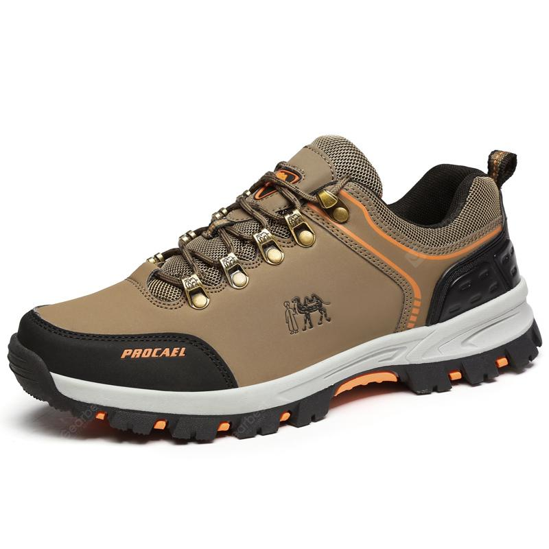 ZEACAVA Men Lace Up Outdoor Hiking Climbing Shoes
