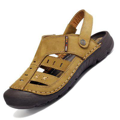 Men Casual Fashion Sandals Leather Shoes