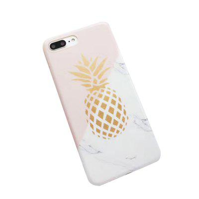 Creative and Personality Phone Case with Pineapple Marble Patte for iPhone 7