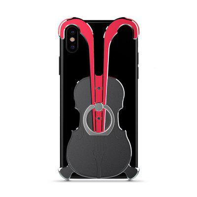 Фото Cover Case for iPhone X Violin Pattern Aluminum Metal Hard Protective Ring mymei outdoor 90db ring alarm loud horn aluminum bicycle bike safety handlebar bell