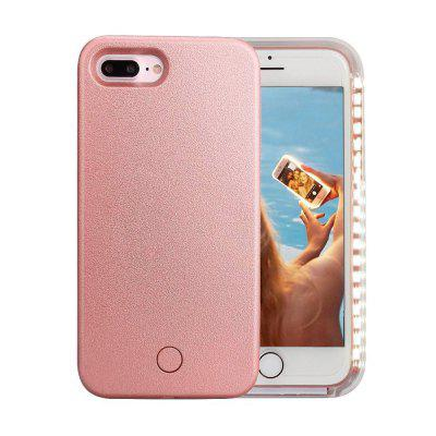 Light Up Luminosa Selfie Lanterna Case Capa para iPhone 7/8 Plus