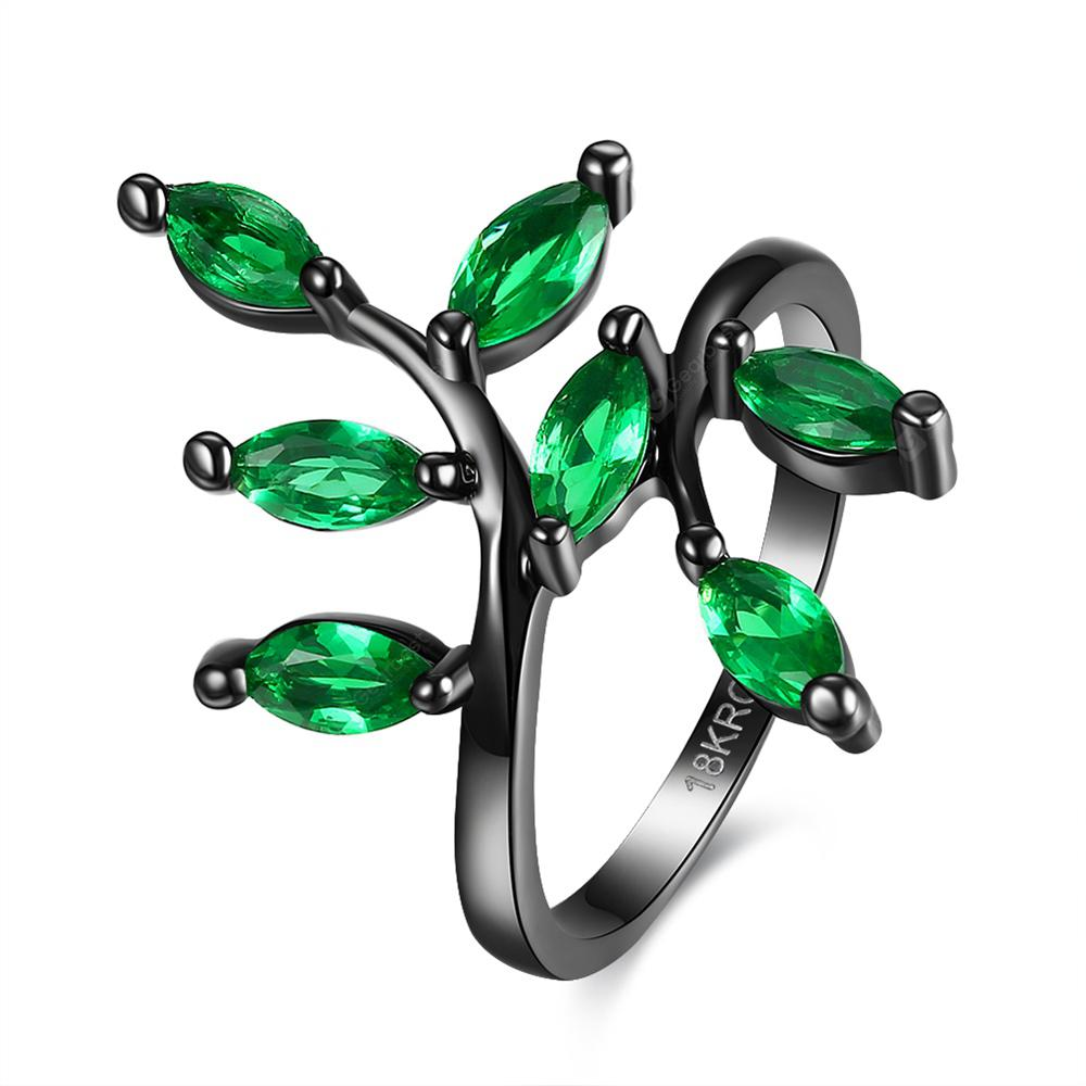 Punk Style Tree Branches Pattern Ring Charm Jewelry