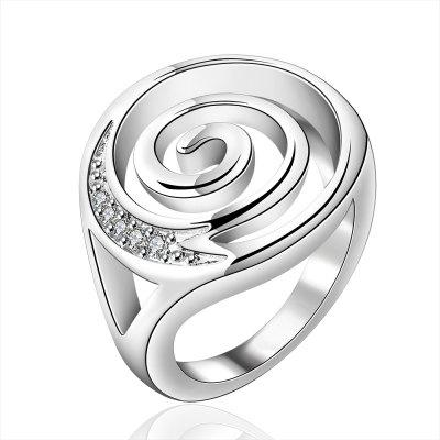 Fashion Whirlpool Pattern Silver Plated Ring Charm Jewelry