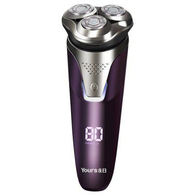 YOURS Three Blade Electric Shaver Rechargeable Razor Man Purple T76