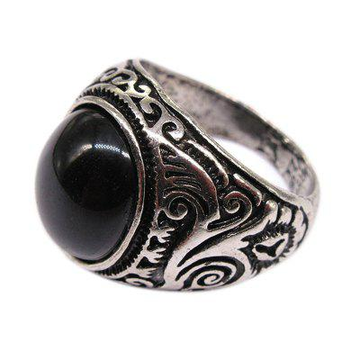 New Casual Fashion Men'S Domineering Embossed Diamond Ring