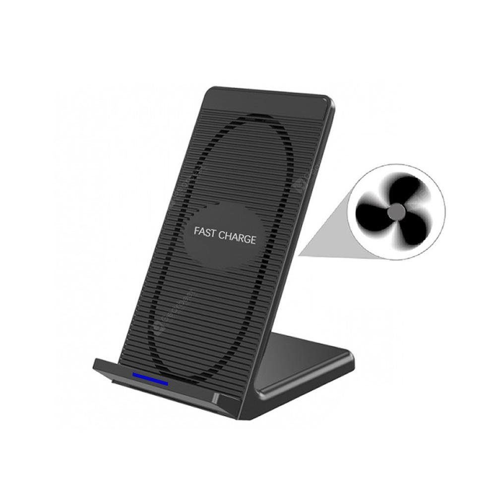 Cwxuan 10W Fast Wireless Charger Stand with Cooling Fan for Qi-devices