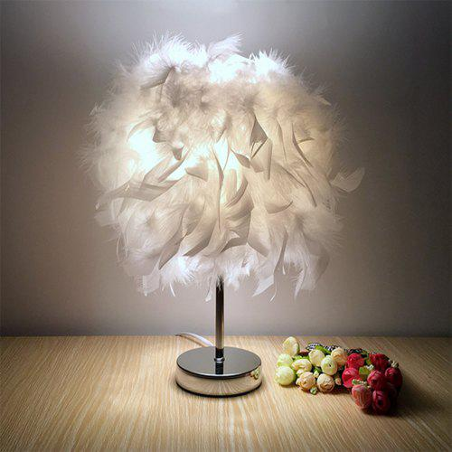 Modern Creative Feather Table Lamp