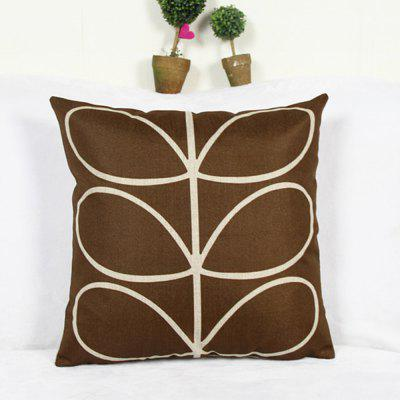 Flax Printing Pillow Sofa Cushion Cover Pillowcase wicker patio sofa set furniture with cushion and pillows manufacturer
