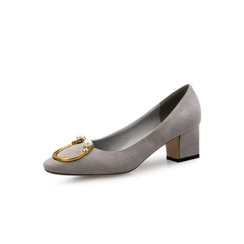 VICONE  Ladies Pearl Daily Chunky Heels Shoes