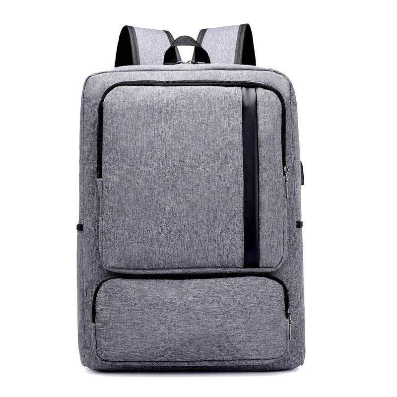 Men Backpack Anti-Theft External USB Charge Port Laptop School Bags Male