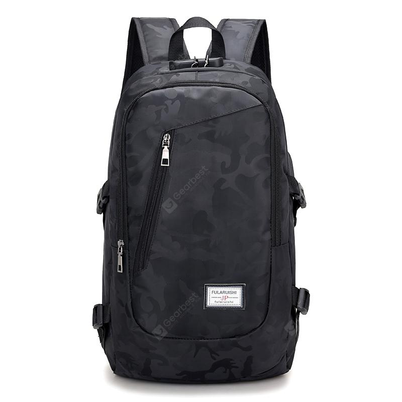 Men Laptop Backpacks For Teenager Male Backbag Anti Thief Security USB Charging