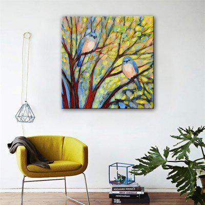 Special Design Frameless Paintings Two Birds Print