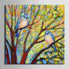 Special Design Frameless Paintings Two Birds Print - MULTI-F