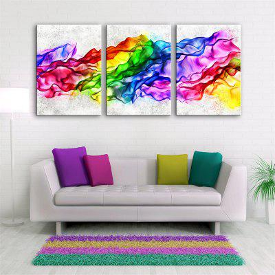 Special Design Frameless Paintings Color Wave Print 3PCS