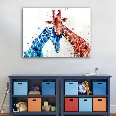 Special Design Frameless Paintings Rely on Each Other Print