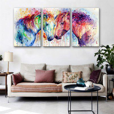 Special Design Frameless Paintings Fall in Love Print 3PCS