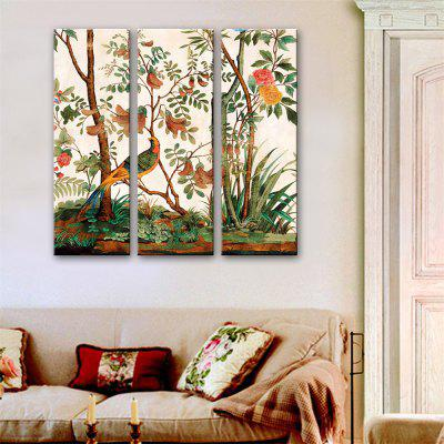 Special Design Frameless Paintings Cuckoo Print 3PCS