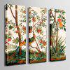 Special Design Frameless Paintings Cuckoo Print 3PCS - MULTI
