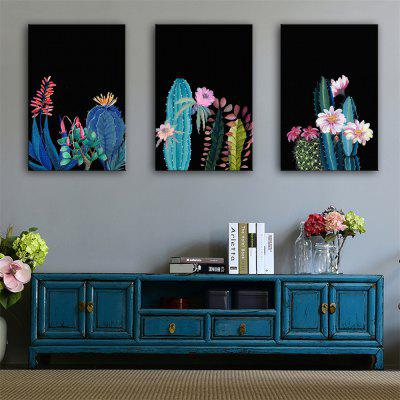 Special Design Frameless Paintings Meaty Plant Print 3PCS