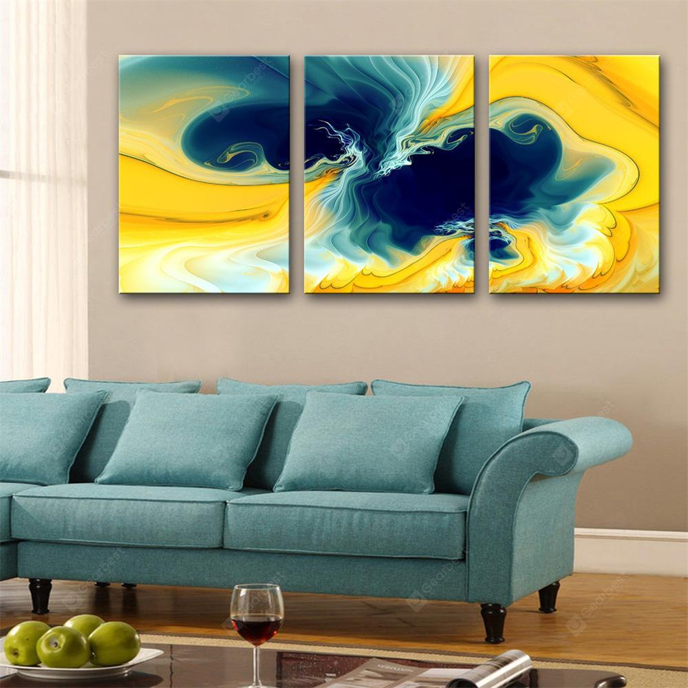 Special Design Frameless Paintings hybrid Print 3PCS