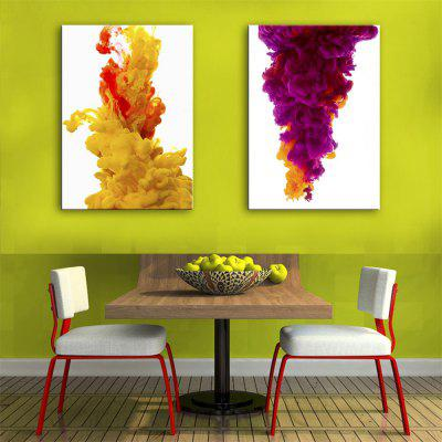 Special Design Frameless Paintings The Fusion Print 2PCS