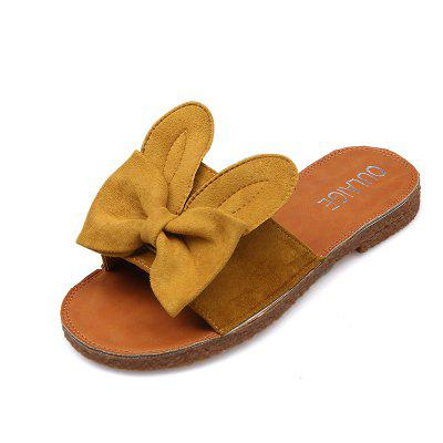 Toe All-match Butterfly Beach Slippers Word