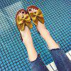 Toe All-match Butterfly Beach Slippers Word - YELLOW