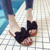 Toe All-match Butterfly Beach Slippers Word - BLACK