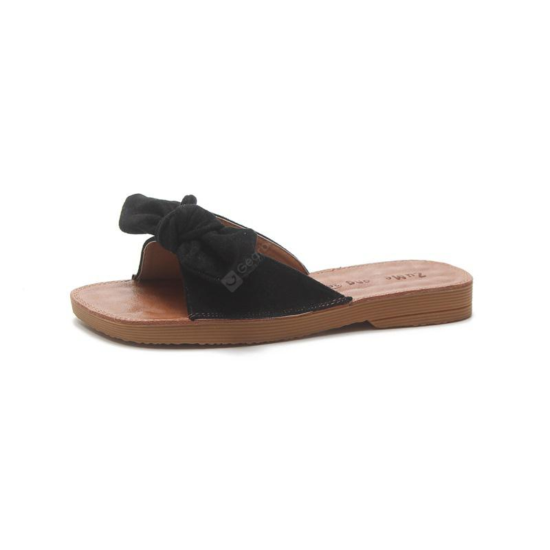 Flat Bottomed Toed Bow Tie Slippers