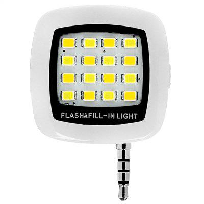 Mini 16 LED Selfie Enhancing Dimmable Cellphone Camera Flash Fill-in Light