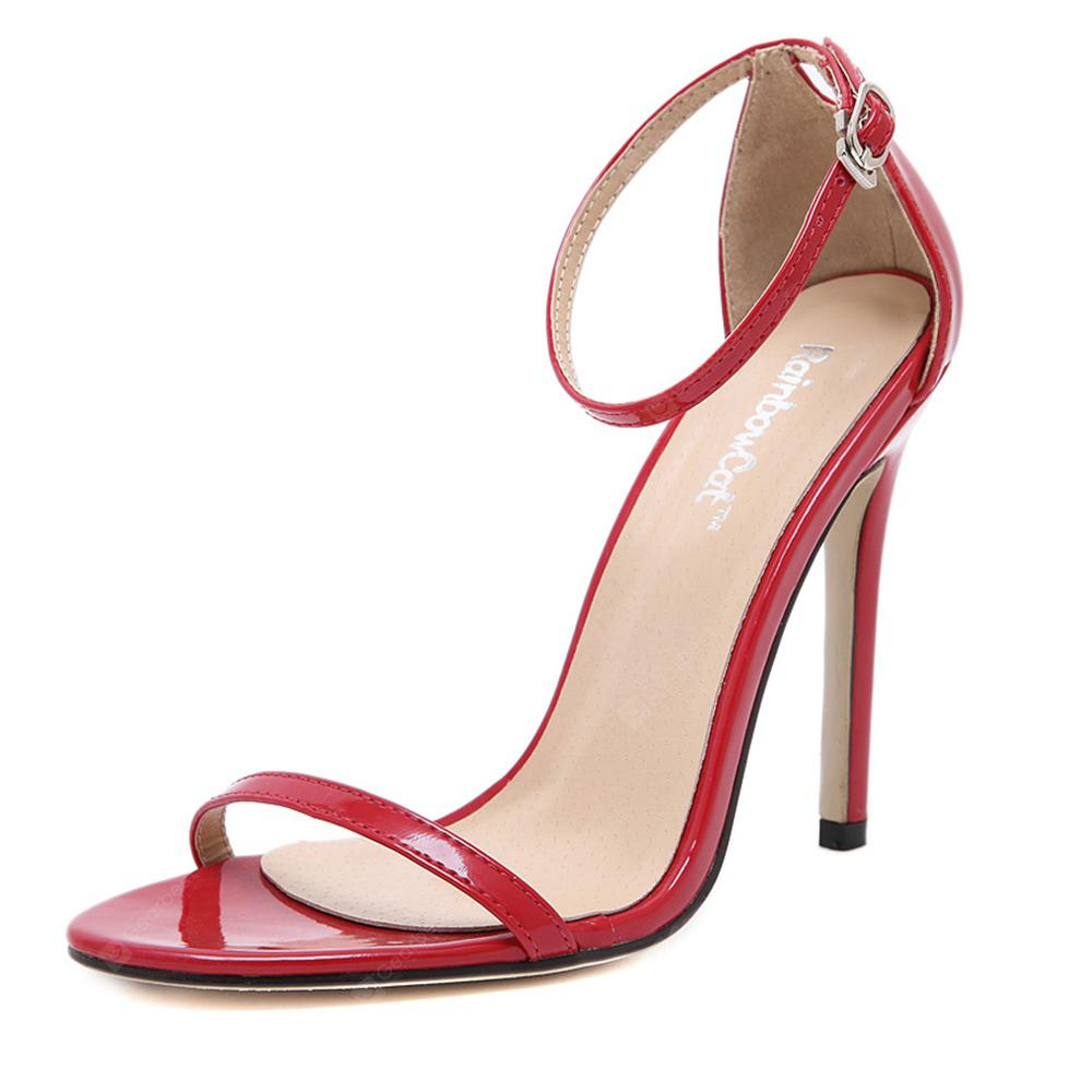 Women Fashion Single Band Ankle Strap Open Toe Sandals
