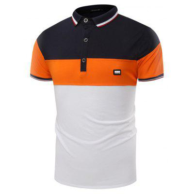 Summer New Fashion Color Casual Lapel Men Short Sleeve Polo Shirt