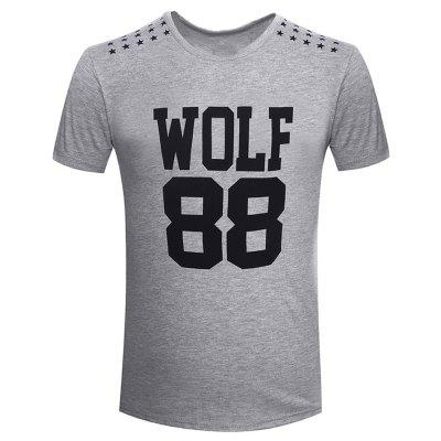 Summer Fashion Collar Letters for Men's Short Sleeve T-Shirts