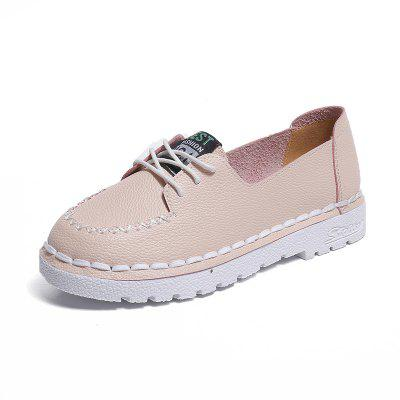 Pu Flat Lace Up Sneaker Shoes
