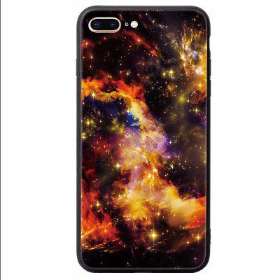 Apply to iPhone 7PLUS Toughened Glass Rear Shell Painting Anti Fall Sleeve