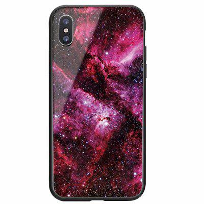 Apply to iPhoneX Tempered Glass Shell Star Sky Painted Super Thin Sleeve