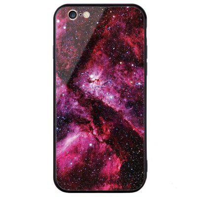 Universal for iPhone 6/6S Tempered Glass Starry Painted Mobile Phone Shell 3d marble pattern painted pu phone for iphone 6s 6