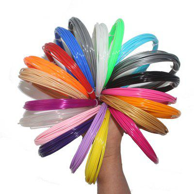 ABS 3D Printer Filament Silk 1.75mm 20 Color Pack 10 Meter