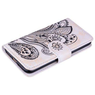 Wallet Flip Stand Case Embossed Plants PU Leather Cover Case for iPhone X white doormoon for iphone 5c wallet genuine leather cover with stand