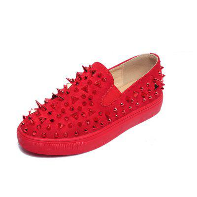 Women's Faddish Sneakers Rivets Design Comfy Stylish Flat Breathable Suede Shoes