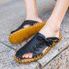 Men Summer Lazy Leisure Hole Leather Baotou Sandals - BLACK