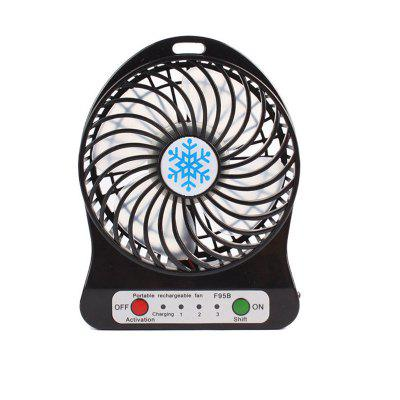 Ventilatore portatile Mini Usb Ricaricabile Ventilatore con Power Bank e Flash Light per la pesca in campeggio Escursionismo Zaino in spalla