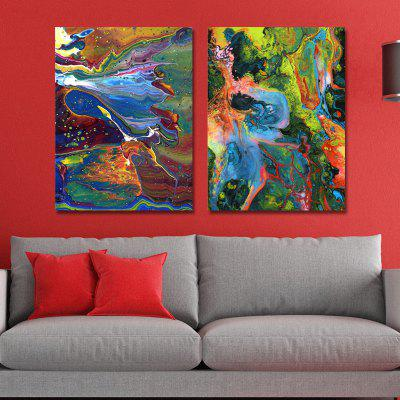 MY43-CX - 2-3 Fashion Abstract Print Art Ready to Hang Paintings 2PCS