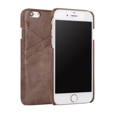For iPhone 6 / 6s Genuine Leather Frosted Cowhide Back Cover Case with Card Slot