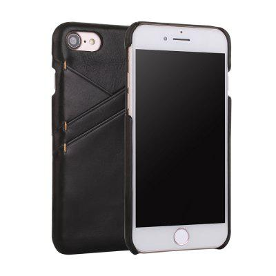 for iPhone 7 / 8 Genuine Leather Frosted Cowhide Back Cover Case with Card Slot