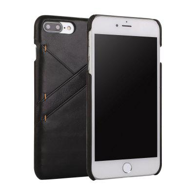 for iPhone 7 Plus/ 8 Plus Genuine Leather Cowhide Back Cover Case with Card Slot cover case for iphone 7 8 solid color dove of peace leather