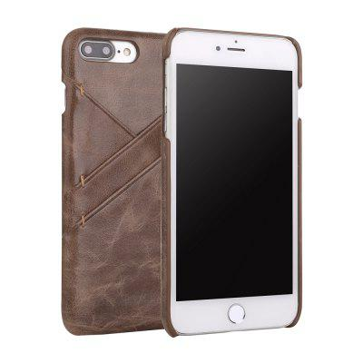 for iPhone 7 Plus/ 8 Plus Genuine Leather Cowhide Back Cover Case with Card Slot